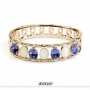 High quality crystal gold bangles